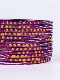 Purple Diaphanous Aluminium Bangles for Women