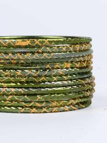 Sea Green Ornate Aluminium Bangles for Women