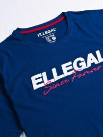 SF Applique Blue Cotton Tee Shirt