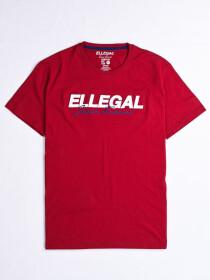 SF Applique BurgundyCotton Tee Shirt