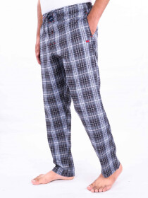 Black and White Lightweight Cotton Blend Relaxed Pajamas