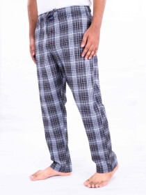 Black & White Cotton Blend Relaxed Pajama