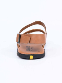 Mustard Leather Casual Sandal For Men