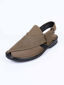 Green Nuback Formal Sandal For Men