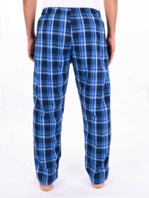 Blue Multi Checked Cotton Blend Relaxed Pajama