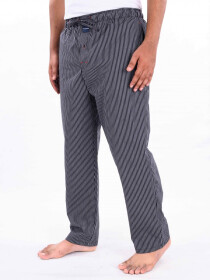 Black & White Striped Lightweight Cotton Blend Relaxed Pajamas