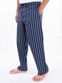 Blue & WhiteStriped Lightweight Cotton Blend Relaxed Pajamas