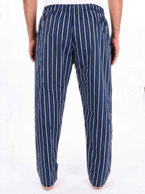 Blue & White Striped Lightweight Cotton Blend Relaxed Pajamas