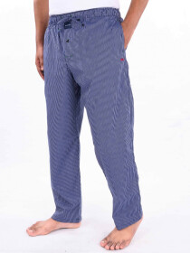 Blue & White Striped Cotton Blend Relaxed Pajama