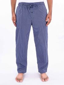 Blue & WhiteStripedCotton Blend Relaxed Pajamas