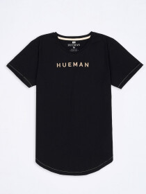Women Black Round Bottom T-shirt