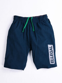 "Raw-Hem Jogger Short 10"" Bright Navy"