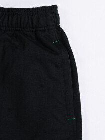 "Raw-Hem Jogger Short 10"" Black"