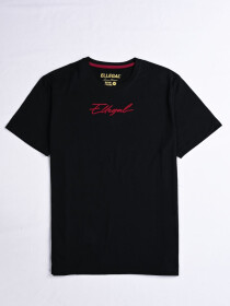 Cally Custom Fit Cotton Tee Shirt- Black