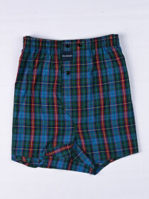Blue lining & Multi Check Convenient Assorted 2-packBoxer
