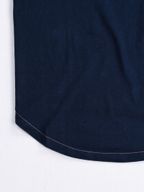 Women Navy Blue Round Bottom  T-shirt