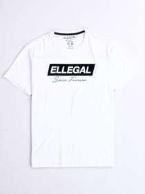 SF Flock White Cotton Tee Shirt
