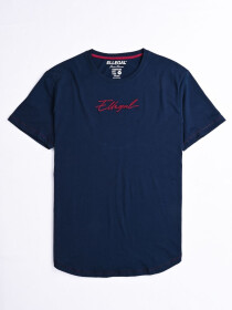 Cally Round Bottom Cotton Tee Shirt - Norwich Navy