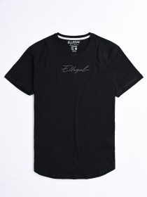 Cally Round Bottom Cotton Tee Shirt - Hash Black