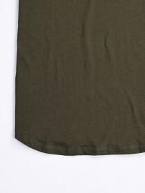 Cally Round Bottom Cotton Tee Shirt - Green Olive