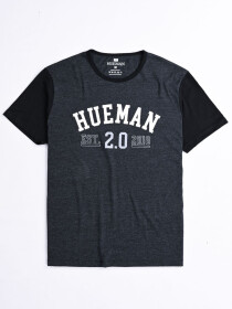 Hueman 2.0 Custom Fit Contrast Tee Dark Grey
