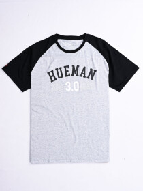 Hueman 3.0 Custom Fit Contrast Tee Grey & Black