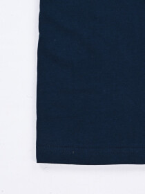 BORN TO CONQUER NAVY BLUE  CREW NECK T SHIRT