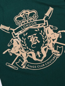 KINGS CLUB COUTURE LONDON V NECK T SHIRT