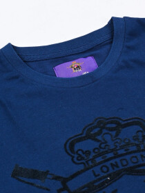 KINGS CLUB COUTURE LONDON NAVY BLUE CREW NECK T SHIRT