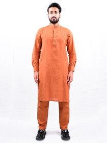 Men Coral Straight Kurta Pajama
