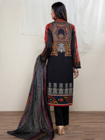 Multicolored Printed Lawn Unstitched 2 Piece Suit for Women