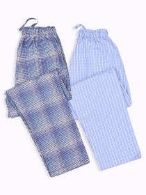 Men Comfortable Cotton BlendRelaxed Pajama Pack of Two