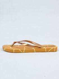 Ipanema Caramel-Gold Flip-Flop