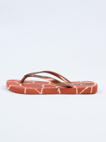 Brown Copper Flip Flop