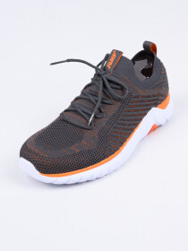 MEN'S TRAINING SHOE DK.GREY-ORANGE