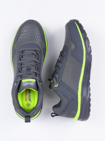MEN'S RUNNING SHOE DK.GREY-LIME