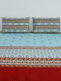 Fresco Floral Patterned Bedsheet Set