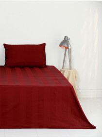 Claret Crimson Color Bedsheet Set