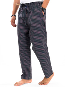 Maroon/Black Cotton Blend Relaxed Pajama