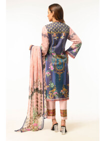 Pink Digital printed Stitched 3 Piece Lawn Suit for Women