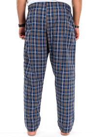 Blue/BeigeMulti Check Cotton Relaxed Pajama