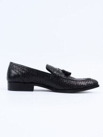Men Classic Black Penny Loafer Shoes