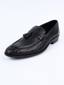 Classic Black Penny Loafer Men Shoes