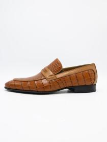 Croco Penny Loafer Men's Shoe