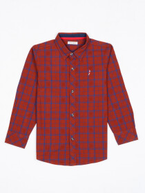 Boys Multi Check Sleeve Woven Shirt