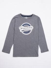 Kids Grey Full Sleeve Winter T Shirt