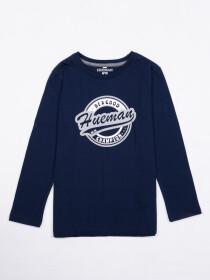 Kids Navy Full Sleeve Winter T Shirt