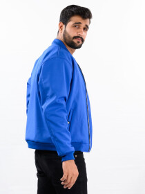 Super Soft Blue Bomber Jacket