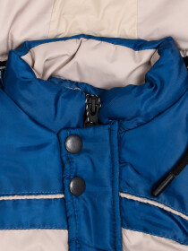 Royal Blue Kids sleeveless Puffer Jacket With Hood