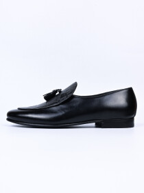 Men Black Troy Fashion Croco Slip-ons